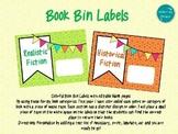 Editable Colorful Book Bin Labels