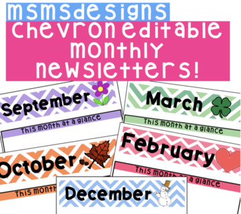 Colorful Editable Monthly Newsletter Template!