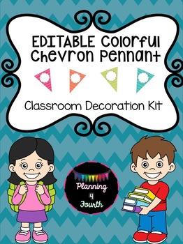 Editable Colorful Chevron Pack