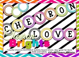Editable Colorful Chevron themed bulletin board letters, labels