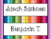 Editable Colorful Desk Nameplates - Editable PDF - Just ty