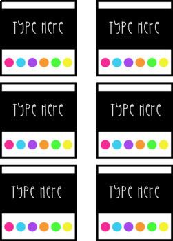 Editable Colorful Labels