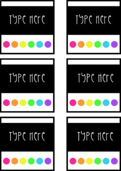 Editable Colorful Labels