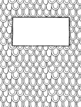 Editable Coloring Page Binder Covers