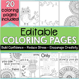 Editable Coloring Pages