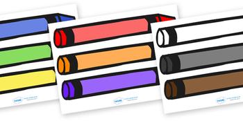 Editable Coloured Crayons