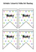 Editable Colourful Polka Dot Bunting