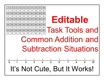 Editable Common Addition and Subtraction Situations