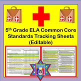 Tracking Sheets (EDITABLE) Common Core 5th Grade ELA by Domain/Cluster/Standard
