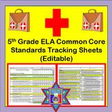 Tracking Sheets (EDITABLE) Common Core 5th Grade ELA by Do