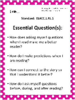 Editable Common Core & EQ Posters for First Grade