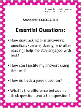 Editable Common Core & EQ Posters for Third Grade
