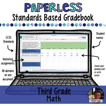 #TPTDIGITAL Paperless Digital Standards Based Gradebook - 3rd Grade Math