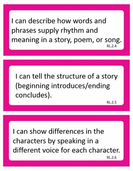 Editable Common Core I Can Statements ELA Second Grade