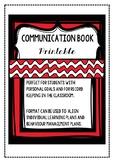 Communication Book Template - ILP, IEP, Behaviour Management Record