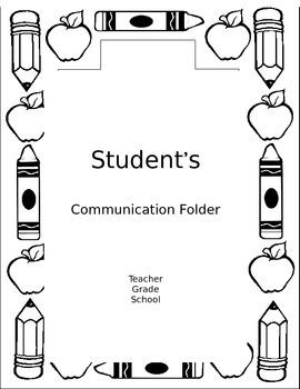 Editable Communication Folder Cover Sheet