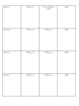 Compare and Contrast Gallery Walk Worksheet