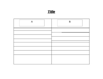 Editable Compare/Contrast Graphic Organizer