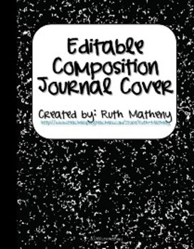 {Editable Composition Journal Cover Black}