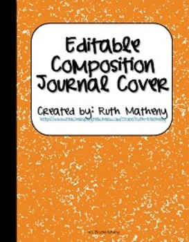 {Editable Composition Journal Cover Orange}