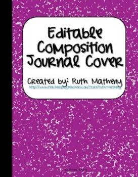 {Editable Composition Journal Cover Purple}