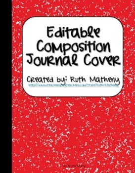 {Editable Composition Journal Cover Red}