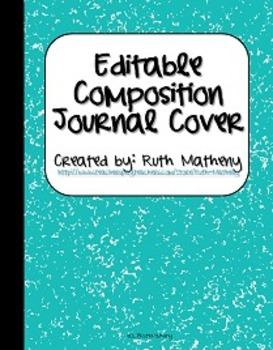 {Editable Composition Journal Cover Turquoise}