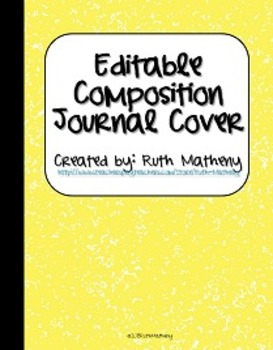 {Editable Composition Journal Cover Yellow}