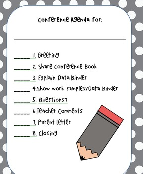 Editable Conference Agenda Checklist