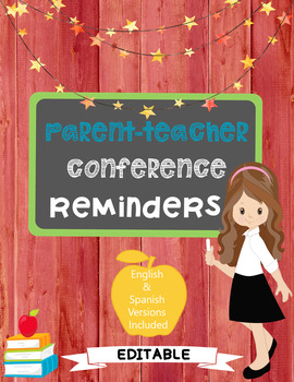 Editable Conference Day Reminders!