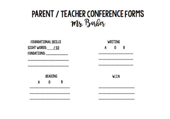 Editable Conference Forms