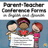 Parent Teacher Conference Forms in Spanish & English Editable