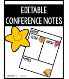Editable Conference Notes