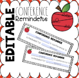 Editable Conference Reminder Slip