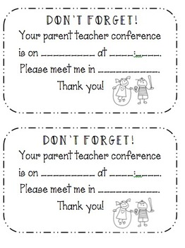 Editable Conference Reminders