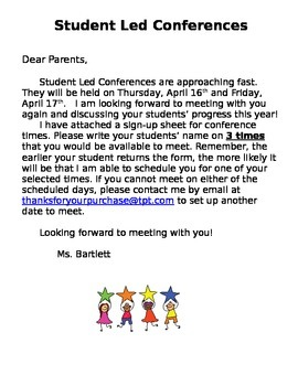 Editable Conferences Letter