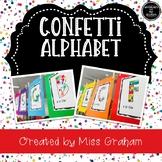 Editable Confetti Alphabet Template A-Z