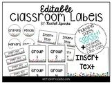 Editable Confetti Classroom Labels (Includes Scrapbook Cas