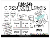Editable Confetti Classroom Labels (Includes Scrapbook Cas