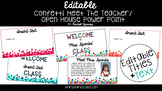 Editable Confetti Meet the Teacher/Open House Powerpoint