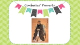 Editable Confucius Proverbs Activity