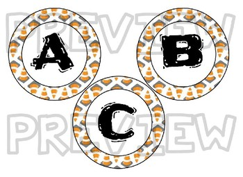 Editable Construction themed bulletin board letters, labels