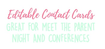 Editable Contact Cards!
