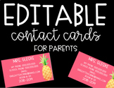 Editable Contact Cards