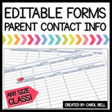 Editable Parent Contact Forms