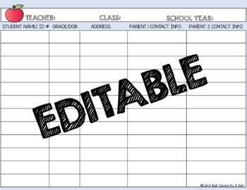 Editable Parent Contact Forms