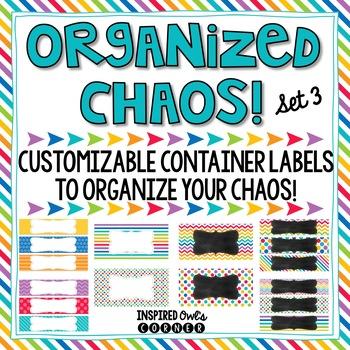 Editable Drawer Labels {Rainbow Brights Set 3}
