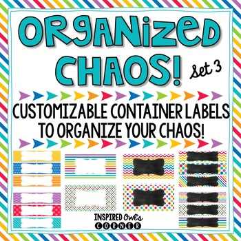 Editable Container Labels {Rainbow Brights Set 3}