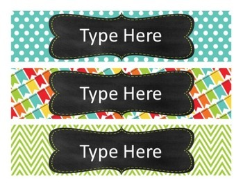 Editable Drawer Labels {Primary Brights Set 2}