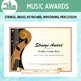 Editable Music Award Certificates